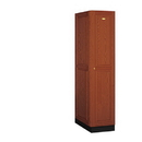 Salsbury Industries 11164MED Solid Oak Executive Wood Locker - Single Tier - 1 Wide - 6 Feet High - 24 Inches Deep - Medium