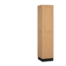 Salsbury Industries 11168LGT Solid Oak Executive Wood Locker - Single Tier - 1 Wide - 6 Feet High - 18 Inches Deep - Light Oak