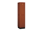 Salsbury Industries 11168MED Solid Oak Executive Wood Locker - Single Tier - 1 Wide - 6 Feet High - 18 Inches Deep - Medium Oak