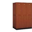 Salsbury Industries 11364MED Solid Oak Executive Wood Locker - Single Tier - 3 Wide - 6 Feet High - 24 Inches Deep - Medium