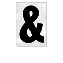 Salsbury Industries 1215-AMP Reflective Punctuation Mark - 3 Inches - Ampersand