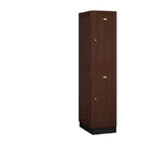 Salsbury Industries 12161DRK Solid Oak Executive Wood Locker - Double Tier - 1 Wide - 6 Feet High - 21 Inches Deep - Dark Oak