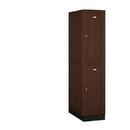 Salsbury Industries 12164DRK Solid Oak Executive Wood Locker - Double Tier - 1 Wide - 6 Feet High - 24 Inches Deep - Dark