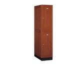 Salsbury Industries 12164MED Solid Oak Executive Wood Locker - Double Tier - 1 Wide - 6 Feet High - 24 Inches Deep - Medium