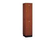 Salsbury Industries 12168MED Solid Oak Executive Wood Locker - Double Tier - 1 Wide - 6 Feet High - 18 Inches Deep - Medium Oak
