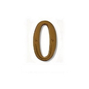 Salsbury Industries 1220A-0 Solid Brass Number - 4 Inches - Antique Finish - 0