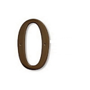 Salsbury Industries 1230A-0 Solid Brass Number - 6 Inches - Antique Finish - 0