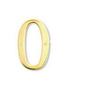 Salsbury Industries 1230B-0 Solid Brass Number - 6 Inches - Brass Finish - 0