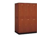 Salsbury Industries 12364MED Solid Oak Executive Wood Locker - Double Tier - 3 Wide - 6 Feet High - 24 Inches Deep - Medium