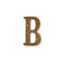 Salsbury Industries 1240A-B Solid Brass Letter - 3 Inches - Antique Finish - B
