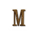 Salsbury Industries 1240A-M Solid Brass Letter - 3 Inches - Antique Finish - M