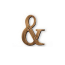 Salsbury Industries 1245A-AMP Solid Brass Punctuation Mark - Antique Finish - Ampersand