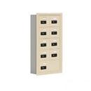 Salsbury Industries 19055-09SRC Cell Phone Storage Locker - 5 Door High Unit (5 Inch Deep Compartments) - 8 A Doors and 1 B Door - Sandstone - Recessed Mounted - Resettable Combination Locks