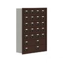 Salsbury Industries 19078-24ZRC Cell Phone Storage Locker - 7 Door High Unit (8 Inch Deep Compartments) - 20 A Doors and 4 B Doors - Bronze - Recessed Mounted - Resettable Combination Locks