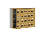 Salsbury Industries 19145-20GRC Cell Phone Storage Locker-with Front Access Panel-4 Door High Unit(5 Inch Deep Compartments)-20 A Doors(19 usable)-Gold-Recessed Mounted-Resettable Combination Locks