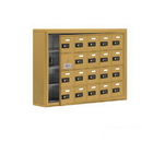 Salsbury Industries 19145-20GSC Cell Phone Storage Locker-with Front Access Panel-4 Door High Unit (5 Inch Deep Compartments)-20 A Doors (19 usable)-Gold-Surface Mounted-Resettable Combination Locks