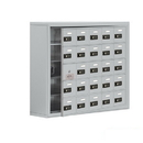 Salsbury Industries 19158-25ASC Cell Phone Storage Locker-5 Door High Unit(8 Inch Deep Compartments)-25 A Doors(24 usable)-Aluminum-Surface Mounted-Resettable Combination Locks