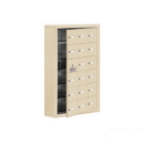 Salsbury Industries 19165-18SSK Cell Phone Storage Locker-with Front Access Panel-6 Door High Unit (5 Inch Deep Compartments)-18 A Doors (17 usable)-Sandstone-Surface Mounted-Master Keyed Locks