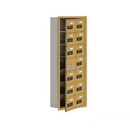 Salsbury Industries 19175-14GRC Cell Phone Storage Locker-with Front Access Panel-7 Door High Unit(5 Inch Deep Compartments)-14 A Doors(13 usable)-Gold-Recessed Mounted-Resettable Combination Locks