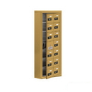 Salsbury Industries 19175-14GSC Cell Phone Storage Locker-with Front Access Panel-7 Door High Unit (5 Inch Deep Compartments)-14 A Doors (13 usable)-Gold-Surface Mounted-Resettable Combination Locks