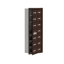Salsbury Industries 19175-14ZRK Cell Phone Storage Locker-with Front Access Panel-7 Door High Unit (5 Inch Deep Compartments)-14 A Doors (13 usable)-Bronze-Recessed Mounted-Master Keyed Locks