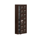 Salsbury Industries 19175-14ZSC Cell Phone Storage Locker-with Front Access Panel-7 Door High Unit(5 Inch Deep Compartments)-14 A Doors(13 usable)-Bronze-Surface Mounted-Resettable Combination Locks
