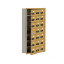 Salsbury Industries 19175-21GRC Cell Phone Storage Locker-with Front Access Panel-7 Door High Unit(5 Inch Deep Compartments)-21 A Doors(20 usable)-Gold-Recessed Mounted-Resettable Combination Locks