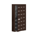 Salsbury Industries 19175-21ZSK Cell Phone Storage Locker-with Front Access Panel-7 Door High Unit (5 Inch Deep Compartments)-21 A Doors (20 usable)-Bronze-Surface Mounted-Master Keyed Locks