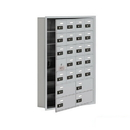 Salsbury Industries 19175-24ARC Cell Phone Storage Locker-with Front Access Panel-7 Door High Unit (5in Deep Compartments)-20 A Doors (19 usable) and 4 B Doors-Aluminum-Recessed Mounted