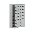 Salsbury Industries 19175-24ASC Cell Phone Storage Locker-with Front Access Panel-7 Door High Unit (5in Deep Compartments)-20 A Doors (19 usable) and 4 B Doors-Aluminum-Surface Mounted