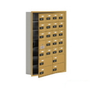 Salsbury Industries 19175-24GRC Cell Phone Storage Locker-7 Door High Unit(5in Deep Compartments)-20 A Doors(19 usable)and 4 B Doors-Gold-Recessed Mounted-Resettable Combination Locks