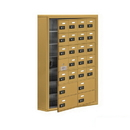 Salsbury Industries 19175-24GSC Cell Phone Storage Locker-7 Door High Unit(5in Deep Compartments)-20 A Doors(19 usable)and 4 B Doors-Gold-Surface Mounted-Resettable Combination Locks