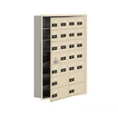Salsbury Industries 19175-24SRC Cell Phone Storage Locker-with Front Access Panel-7 Door High Unit (5in Deep Compartments)-20 A Doors (19 usable) and 4 B Doors-Sandstone-Recessed Mounted