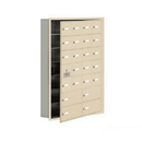 Salsbury Industries 19175-24SRK Cell Phone Storage Locker-7 Door High Unit(5 Inch Deep Compartments)-20 A Doors(19 usable)and 4 B Doors-Sandstone-Recessed Mounted-Master Keyed Locks