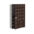 Salsbury Industries 19175-24ZRC Cell Phone Storage Locker-with Front Access Panel-7 Door High Unit (5in Deep Compartments)-20 A Doors (19 usable) and 4 B Doors-Bronze-Recessed Mounted