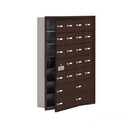 Salsbury Industries 19175-24ZRK Cell Phone Storage Locker-7 Door High Unit(5 Inch Deep Compartments)-20 A Doors(19 usable)and 4 B Doors-Bronze-Recessed Mounted-Master Keyed Locks