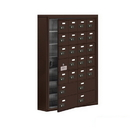 Salsbury Industries 19175-24ZSC Cell Phone Storage Locker-with Front Access Panel-7 Door High Unit (5in Deep Compartments)-20 A Doors (19 usable) and 4 B Doors-Bronze-Surface Mounted