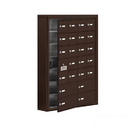 Salsbury Industries 19175-24ZSK Cell Phone Storage Locker-7 Door High Unit(5 Inch Deep Compartments)-20 A Doors(19 usable)and 4 B Doors-Bronze-Surface Mounted-Master Keyed Locks