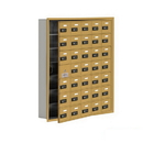 Salsbury Industries 19175-35GRC Cell Phone Storage Locker-with Front Access Panel-7 Door High Unit(5 Inch Deep Compartments)-35 A Doors(34 usable)-Gold-Recessed Mounted-Resettable Combination Locks