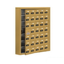 Salsbury Industries 19175-35GSC Cell Phone Storage Locker-with Front Access Panel-7 Door High Unit (5 Inch Deep Compartments)-35 A Doors (34 usable)-Gold-Surface Mounted-Resettable Combination Locks