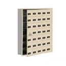 Salsbury Industries 19175-35SRC Cell Phone Storage Locker-7 Door High Unit(5 Inch Deep Compartments)-35 A Doors(34 usable)-Sandstone-Recessed Mounted-Resettable Combination Locks