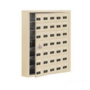 Salsbury Industries 19175-35SSC Cell Phone Storage Locker-7 Door High Unit(5 Inch Deep Compartments)-35 A Doors(34 usable)-Sandstone-Surface Mounted-Resettable Combination Locks