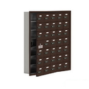 Salsbury Industries 19175-35ZRC Cell Phone Storage Locker-7 Door High Unit(5 Inch Deep Compartments)-35 A Doors(34 usable)-Bronze-Recessed Mounted-Resettable Combination Locks