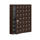 Salsbury Industries 19175-35ZSC Cell Phone Storage Locker-with Front Access Panel-7 Door High Unit(5 Inch Deep Compartments)-35 A Doors(34 usable)-Bronze-Surface Mounted-Resettable Combination Locks