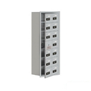 Salsbury Industries 19178-14ARC Cell Phone Storage Locker-7 Door High Unit(8 Inch Deep Compartments)-14 A Doors(13 usable)-Aluminum-Recessed Mounted-Resettable Combination Locks