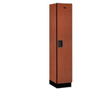 Salsbury Industries 21168CHE Extra Wide Designer Wood Locker - Single Tier - 1 Wide - 6 Feet High - 18 Inches Deep - Cherry