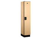 Salsbury Industries 21168MAP Extra Wide Designer Wood Locker - Single Tier - 1 Wide - 6 Feet High - 18 Inches Deep - Maple