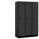 Salsbury Industries 21368BLK Extra Wide Designer Wood Locker - Single Tier - 3 Wide - 6 Feet High - 18 Inches Deep - Black