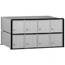 Salsbury Industries 2208 Aluminum Mailbox - 8 Doors - Rack Ladder System