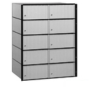 Salsbury Industries 2210 Aluminum Mailbox - 10 Doors - Standard System